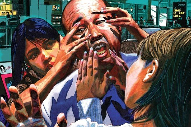 Ilustración del asesinato de Kim Jong-nam (Jeffrey Smith)