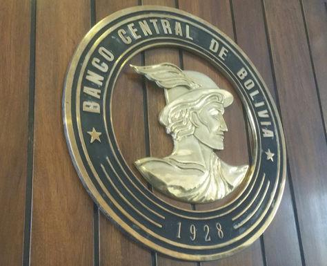 Logo del Banco Central de Bolivia. Foto: La Razón