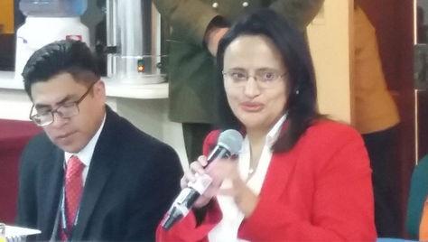 Lenny Valdivia, directora de la Autoridad de Supervisión del Sistema Financiero (ASFI).