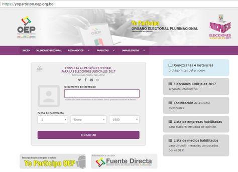 El portal de Yo Participo en internet.
