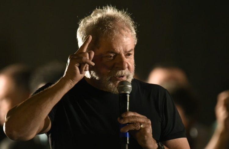 El ex presidente brasileño Lula da Silva enBelo Horizonte (AFP PHOTO / DOUGLAS MAGNO)