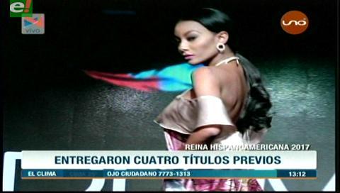 Reina Hispanoamericana 2017 entregó títulos previos