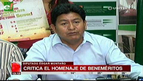Che Guevara: Diputado Montaño criticó a beneméritos que homenajearon a los soldados caídos