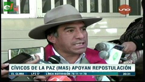 Cívicos paceños rechazan la marcha cívica nacional contra la repostulación de Morales