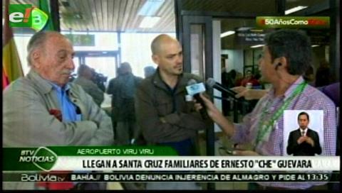 Delegaciones llegan a Santa Cruz para participar en actos por los 50 años del Che en Bolivia