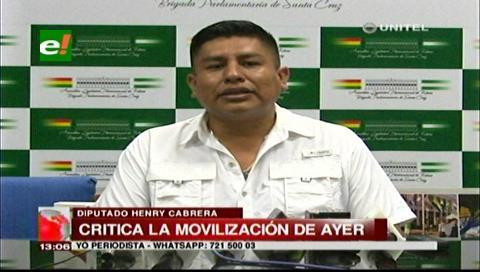 Diputado Cabrera acusa a Doria Medina de financiar movilización por la democracia