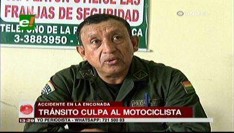 Informe policial: Motociclista sería el responsable del accidente con 2 víctimas en La Enconada