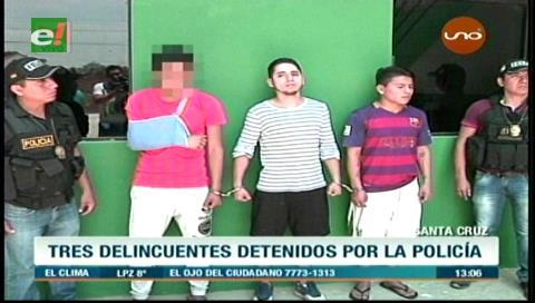 Santa Cruz: Detienen a tres delincuentes que atracaban en la radial 26