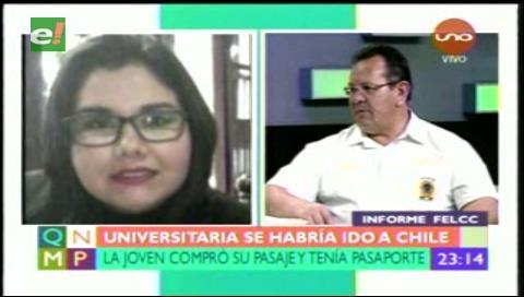 Santa Cruz: Felcc descarta desaparición de la universitaria Iris Nathalia Camacho