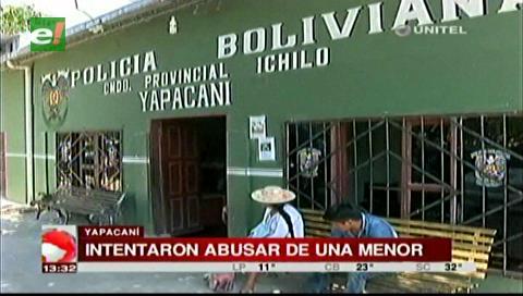 Yapacaní: Detienen a dos sujetos que intentaron abusar a una menor