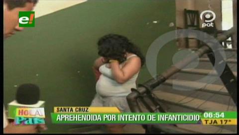 Mujer en estado de ebriedad intentó ahorcar a su bebé de 3 meses