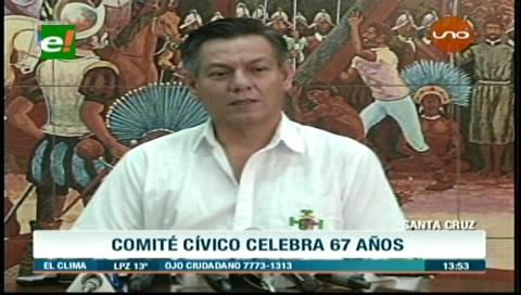 Comité Pro Santa Cruz cumple 67 años de lucha por el departamento
