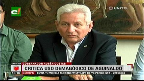 Costas critica el uso demagógico del doble aguinaldo