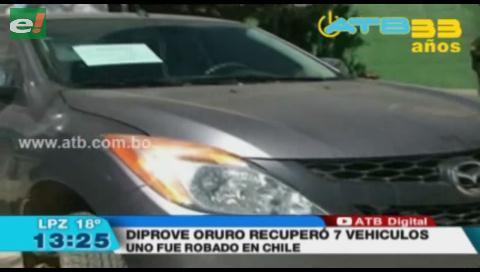 Diprove recupera 5 autos y dos motos en Oruro