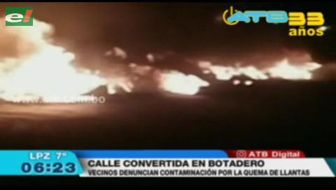 El Alto: Vecinos denuncian que la avenida Arica es un botadero
