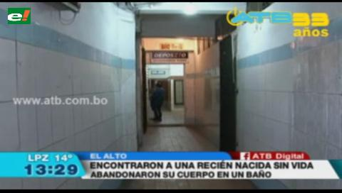 Encontraron el cuerpo sin vida de una recién nacida en un baño público en El Alto