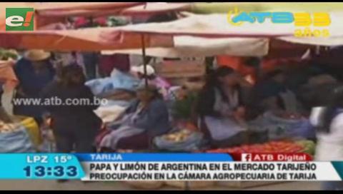 Mercados de Tarija están llenos de productos argentinos