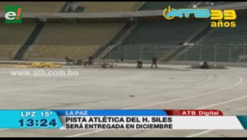 Postergan entrega de la pista atlética del estadio Hernando Siles