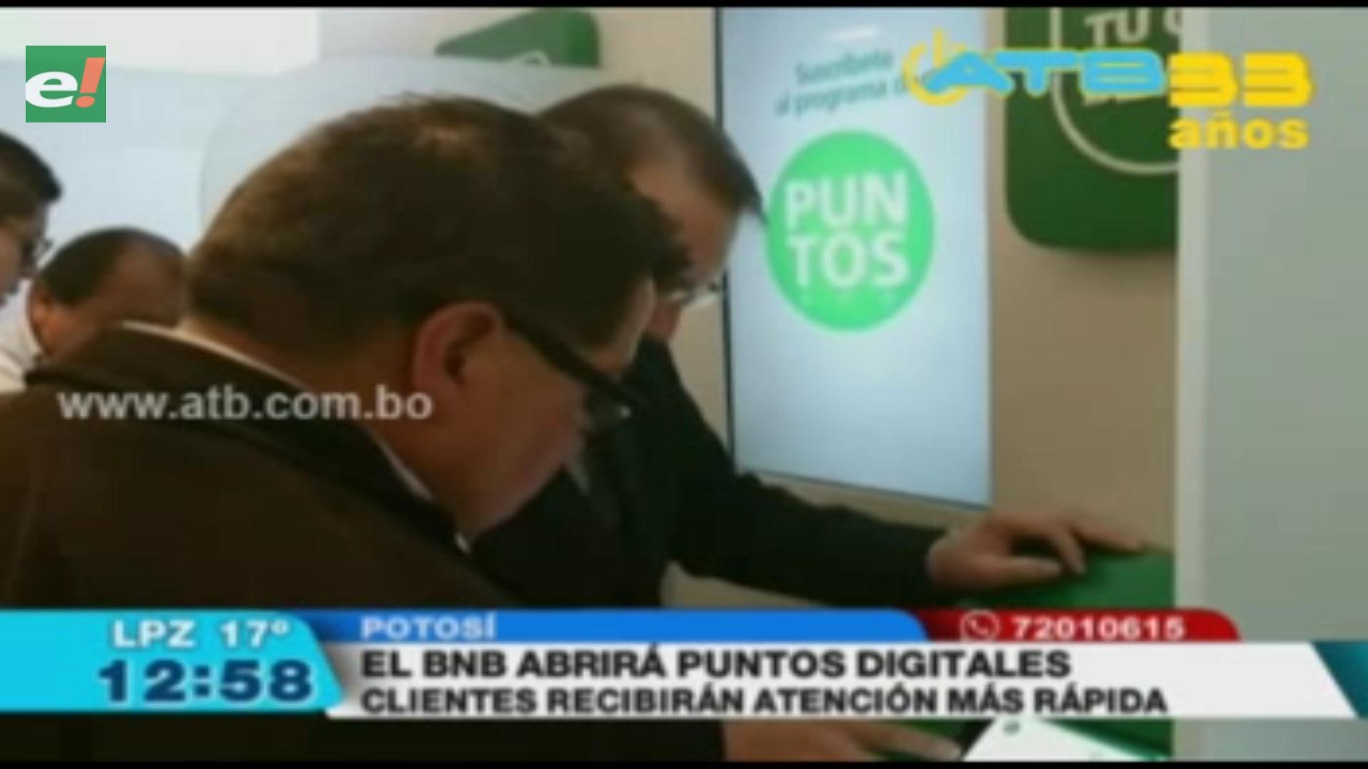 BNB instaló puntos digitales para una mejor atención a clientes en Potosí
