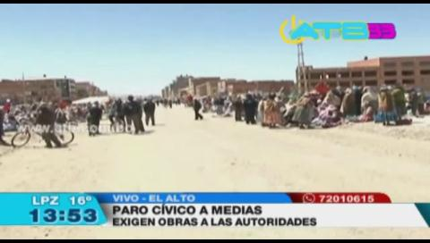 Paro cívico en El Alto fue un fracaso