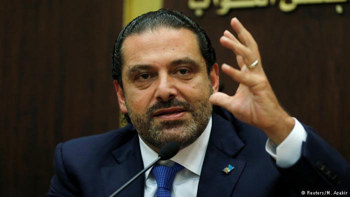 Libanon Beirut - Saad Hariri bei Pressekonferenz (Reuters/M. Azakir)