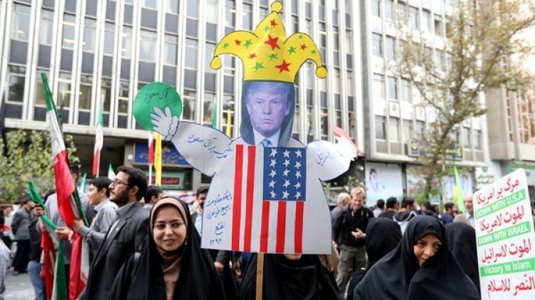 Un muñeco con la imagen de Donald Trump (AFP)
