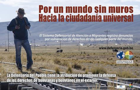 Una publicación de la Defensoría del Pueblo que promueve la nueva plataforma de denuncias de migrantes.