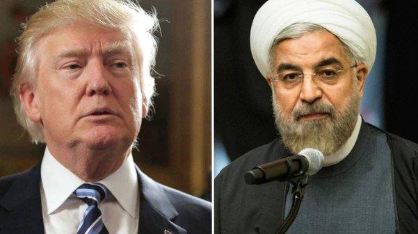 El presidente estadounidense Donald Trump y su par iraní Hassan Rohani (Foto: Infobae)