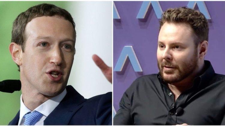 Mark Zuckerberg y Sean Parker. (Foto Steven Senne/AP, Axios.com)