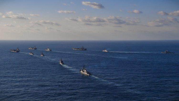 Los portaaviones estadounidenses en el Mar de Japón el 12 de noviembre de 2017. (Reuters)