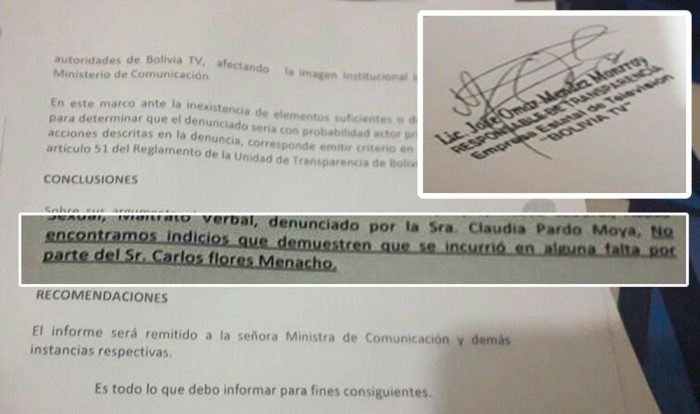INFORME AL QUE TUVO ACCESO EL DIARIO.