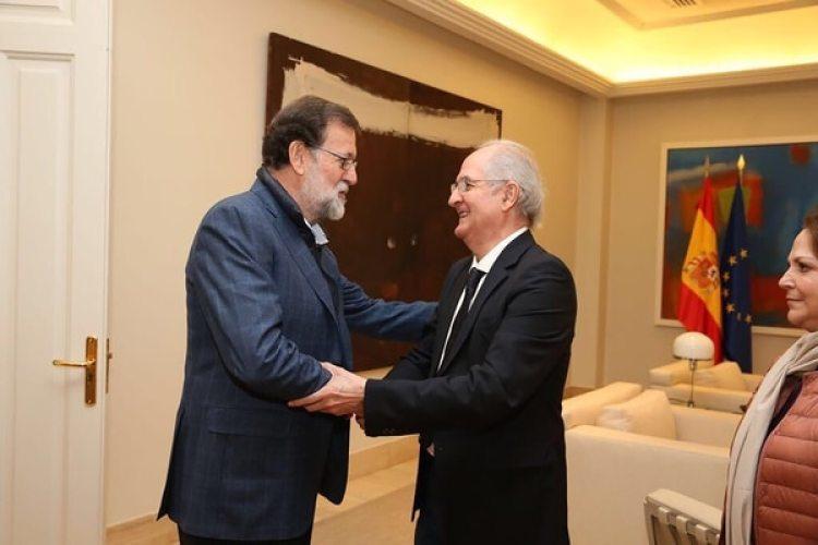 Mariano Rajoy y Antonio Ledezma