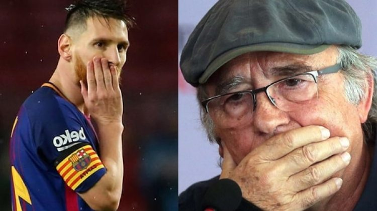 Lionel Messi y Joan Manuel Serrat