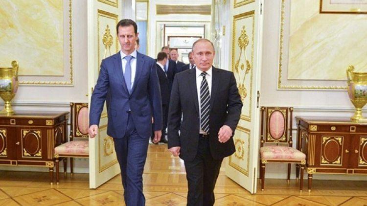Bashar Al Assad, presidente de Siria, y Vladimir Putin , mandatario de Rusia