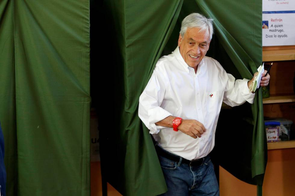 El expresidente de Chile y candidato presidencial de la coalición Chile Vamos, Sebastián Piñera