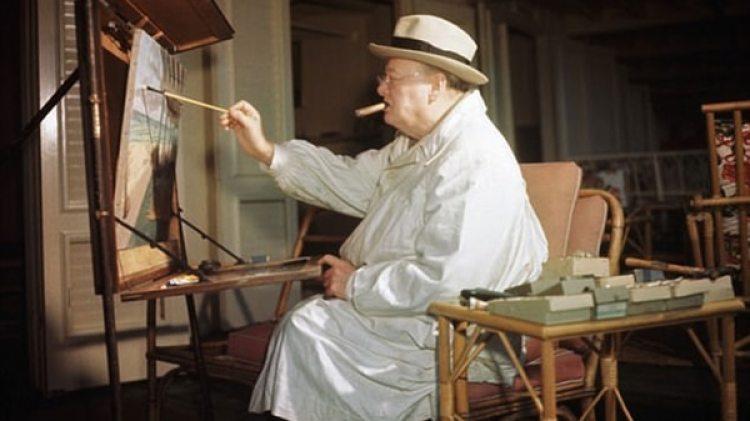 Churchill llegó a firmar decenas de obras que nunca vendía, sino que las regalaba a amigos, colegas, empleados y dignatarios extranjeros