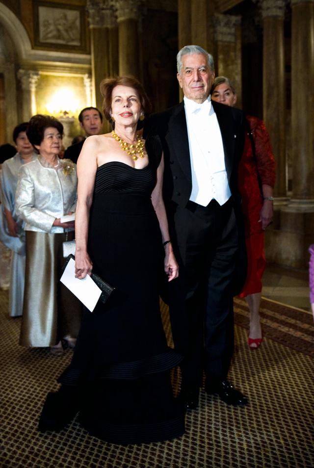 Cuando el escritor recibió el Nobel, en 2010.