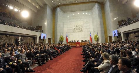 El congreso de Chile.