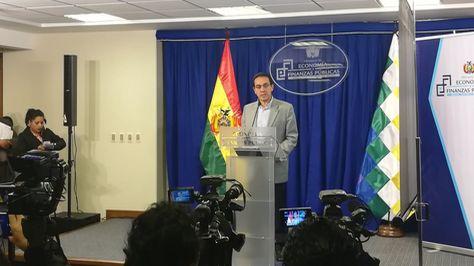 El ministro de Economía, Mario Guillén, en la presentación del proyecto de ley del Presupuesto 2018. Foto:Ministerio de Economía