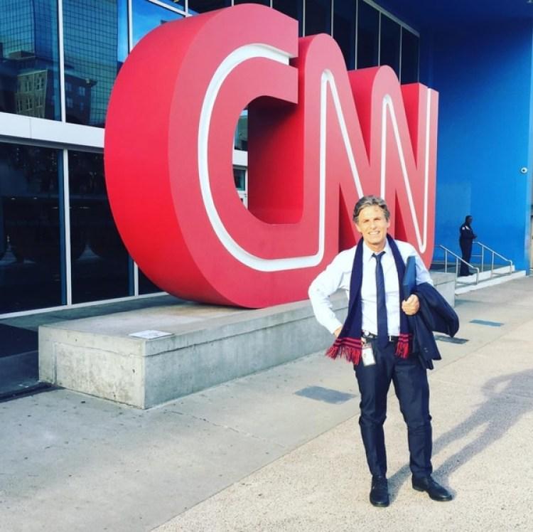 El periodista argentino Carlos Montero en la sede central de CNN en Atlanta. (Instagram monterocnn)
