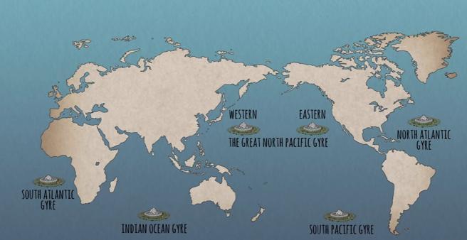 Las grandes cantidades de plástico lanzado al mar están creando islas de basura