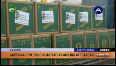 Municipios declarados en emergencia por sequía reciben ayuda de la Gobernación cruceña