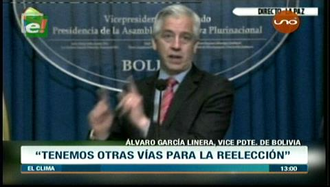 Vice García no descarta la Constituyente ni un nuevo referendo para Evo-2019
