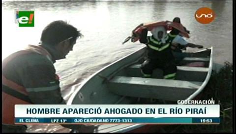 Rescatan un cuerpo sin vida en el río Piraí del municipio de Fernández Alonso