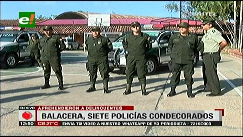 Policía condecoró a efectivos que redujeron a atracadores tras una balacera