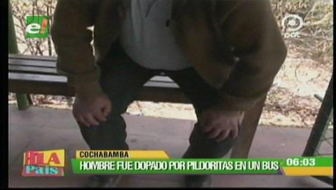 """Un hombre fue dopado por """"pildoritas"""" en un bus"""