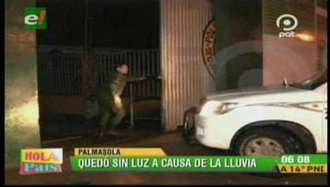 Un rayó cortó la energía eléctrica en Palmasola
