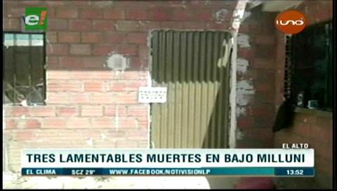 Un triple hecho de sangre estremece a ciudad El Alto-La Paz