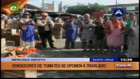 Gremialistas del Abasto protestan por traslado de mercado
