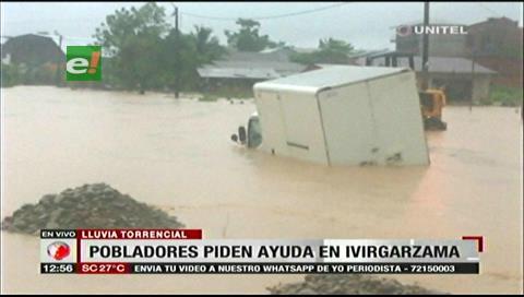 Ivirgarzama sufre inundaciones tras torrencial lluvia